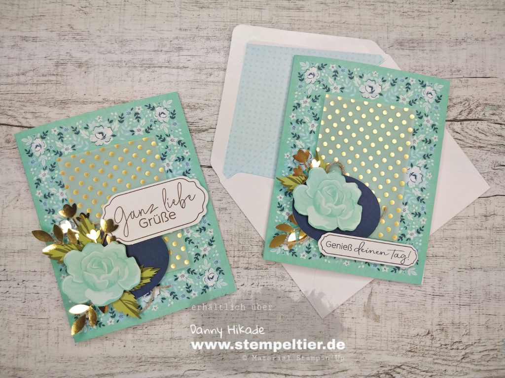 Stampin' Up saleabration 2020 SAB kartenset Bandana Flair Stempeltier