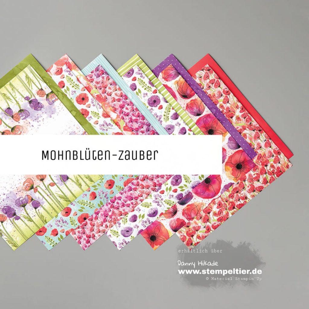 stampin up mohnblütenzauber poppies DSP Kartenbasteln saleabration 2020