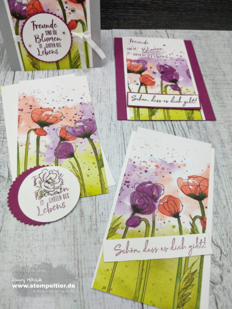 stampin up mohnblütenzauber poppies DSP geheimer garten Freunde Blumen