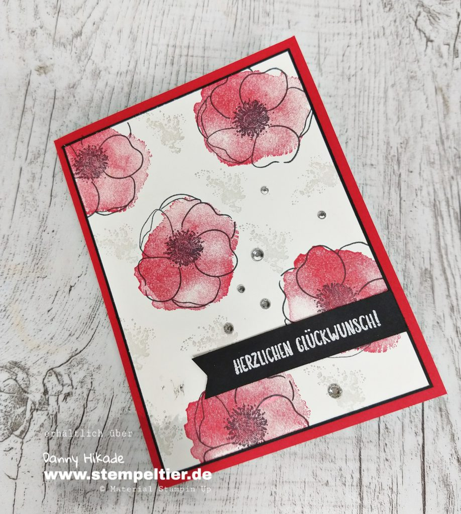 stampin up mohnblütenzauber peaceful poppies DSP Blumen