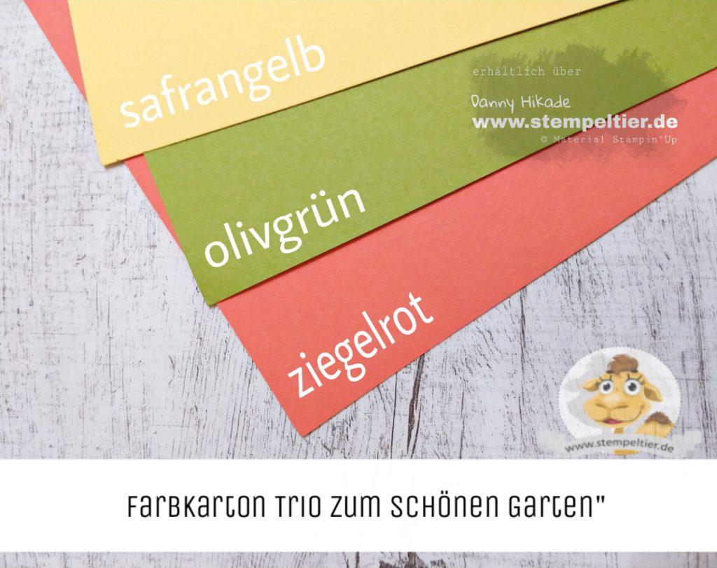 stampin up schöner garten ornate garden Farbkarton Trio stempeltier