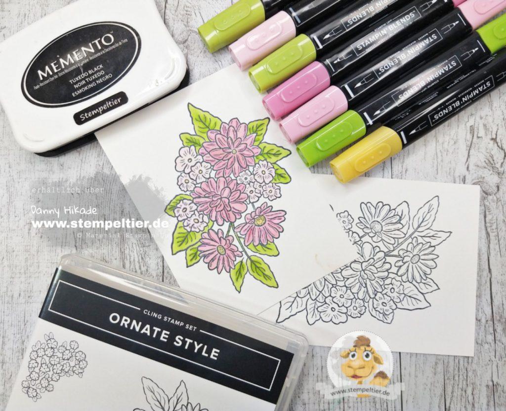 Stampin Up schöner Garten Ornate Style Karte Stempeltier