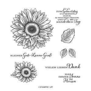 stampin up gute laune gruß sonnenblume sunflower stempeltier