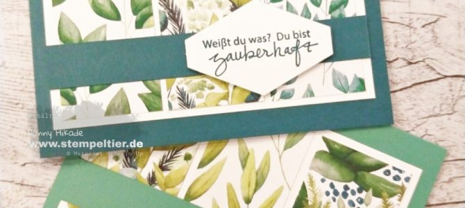 Pretty Cards & Paper Bloghop – ewiges Grün