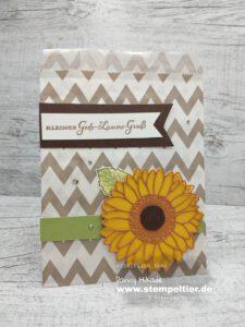 Stampin Up gute Laune Gruß Sonnenblumen sunflowers box of sunshine
