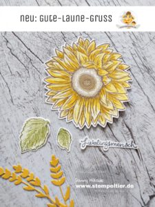 Stampin Up Sonnenblume gute Laune Gruß Stempeltier