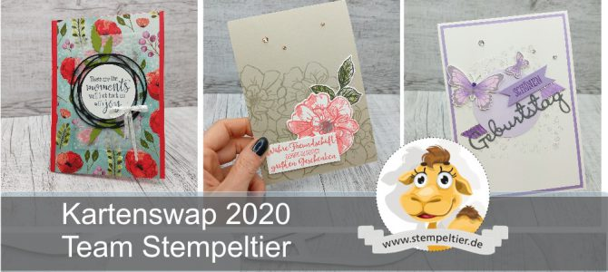 Kartenswap Team Stempeltier April 2020