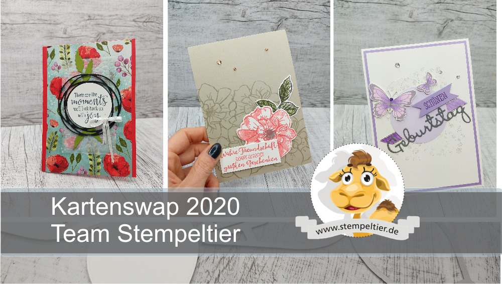 kartenswap team stempeltier youtube video stampin up 2020