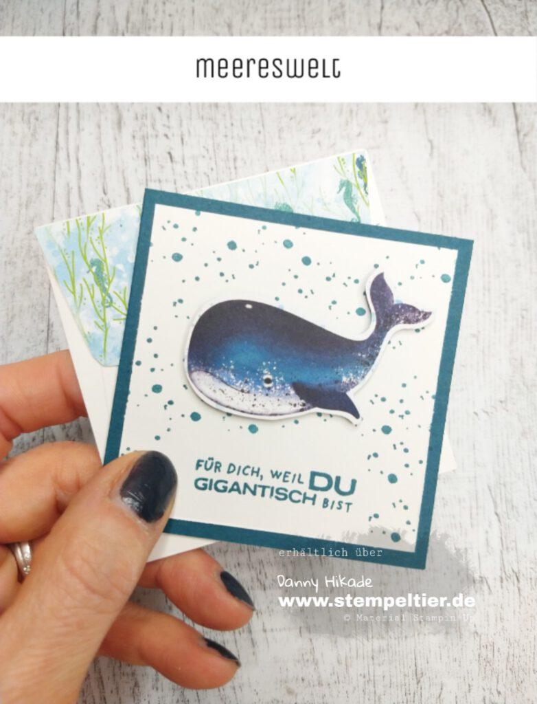 stampin up video produktreihe meereswelt wal schildkröte whale done stempeltier