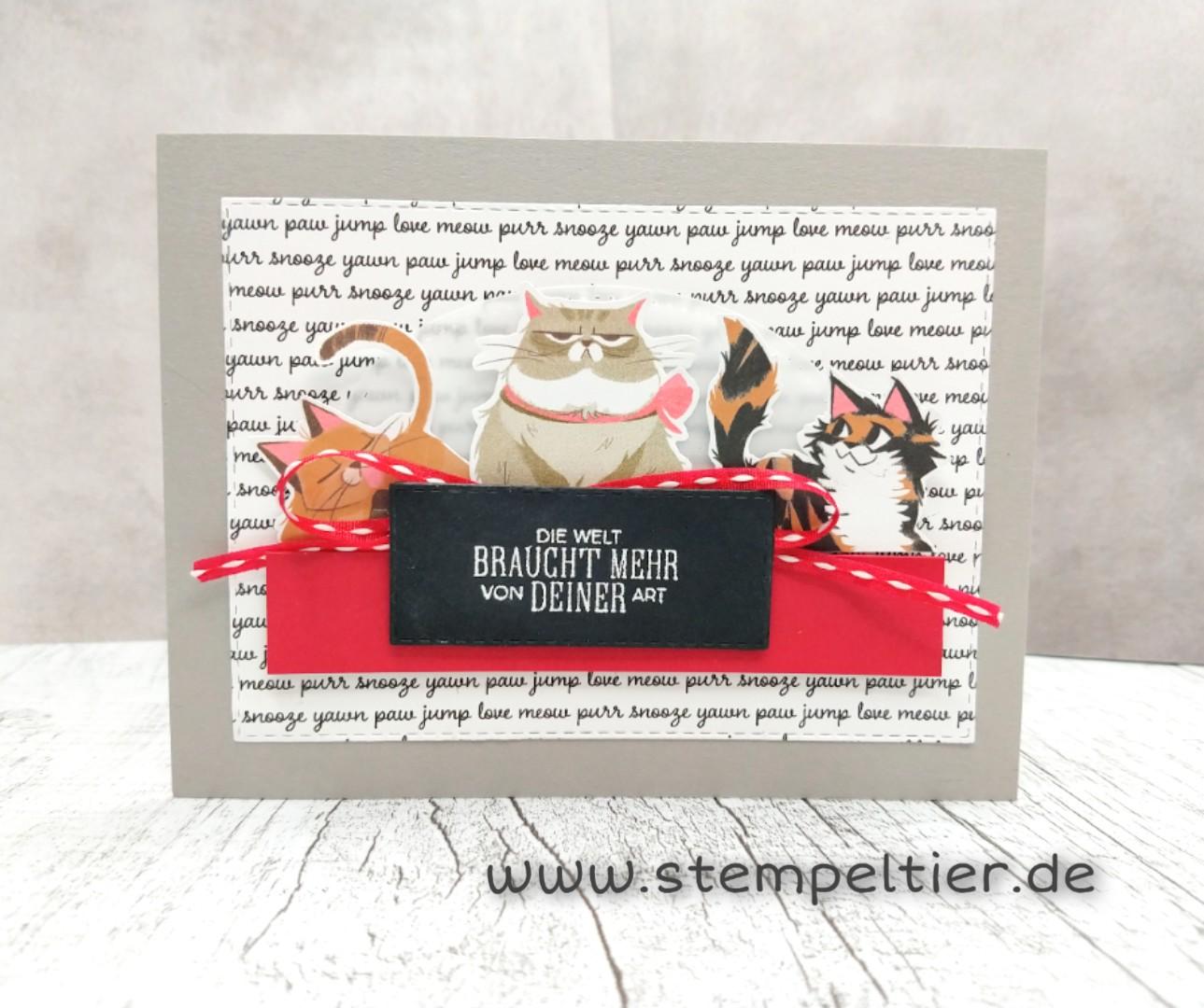 stampin up tierliebe playful pets hund katze cats dogs stempeltier