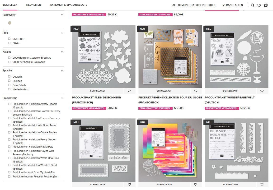onlineshop stampin up stempeltier bestellen gratis shoppingvorteile