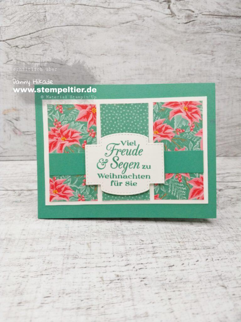 stampinup blumen für jede Jahreszeit DSP designerpapier weihnachtsstern