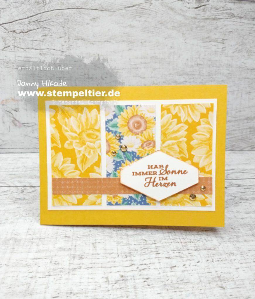stampinup blumen für jede Jahreszeit DSP designerpapier sonnenblume