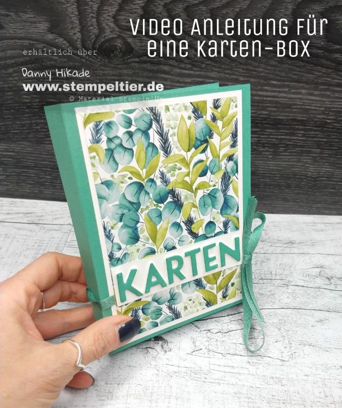 stampin up anleitung kartenbox verpackung stempeltier ewiges grün