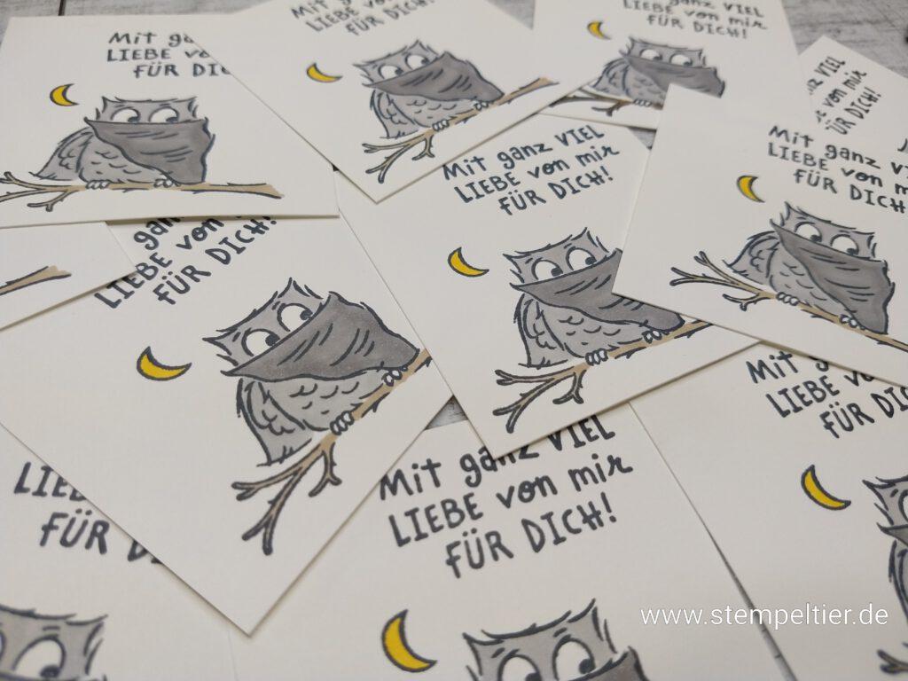 stampin up eulenfest owl stempeltier