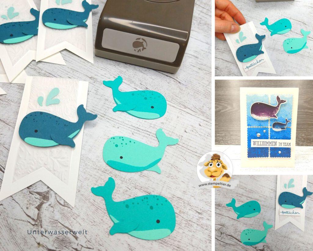 stampin up goodie meereswelt wal whale punch willkommen im team stempeltier