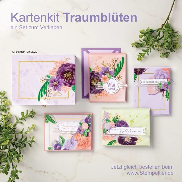 stampin up kartenset traumblüten stempeltier blüten ideen