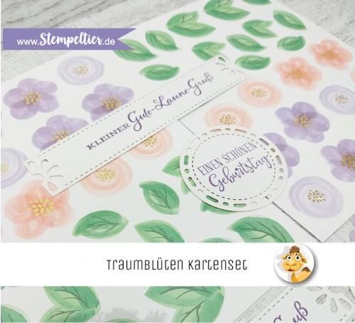 stampin up kartenset traumblüten stempeltier kartenkit