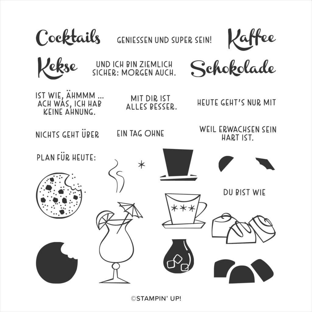 stampin up nichts gehr über schokolade kekse cocktails
