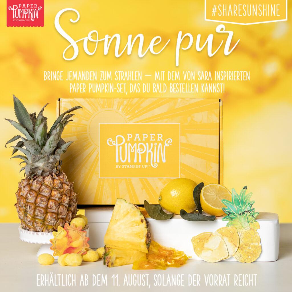 stampin up sonne pur paper pumpkin bestellen vorbestellung sonnenschein ananas