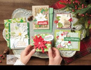 stampin up weihnachtsblüten dsp plus paket