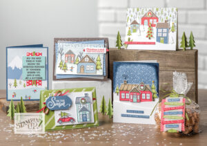 stampin up minikatalog adventsstädtchen basteln weihnachten