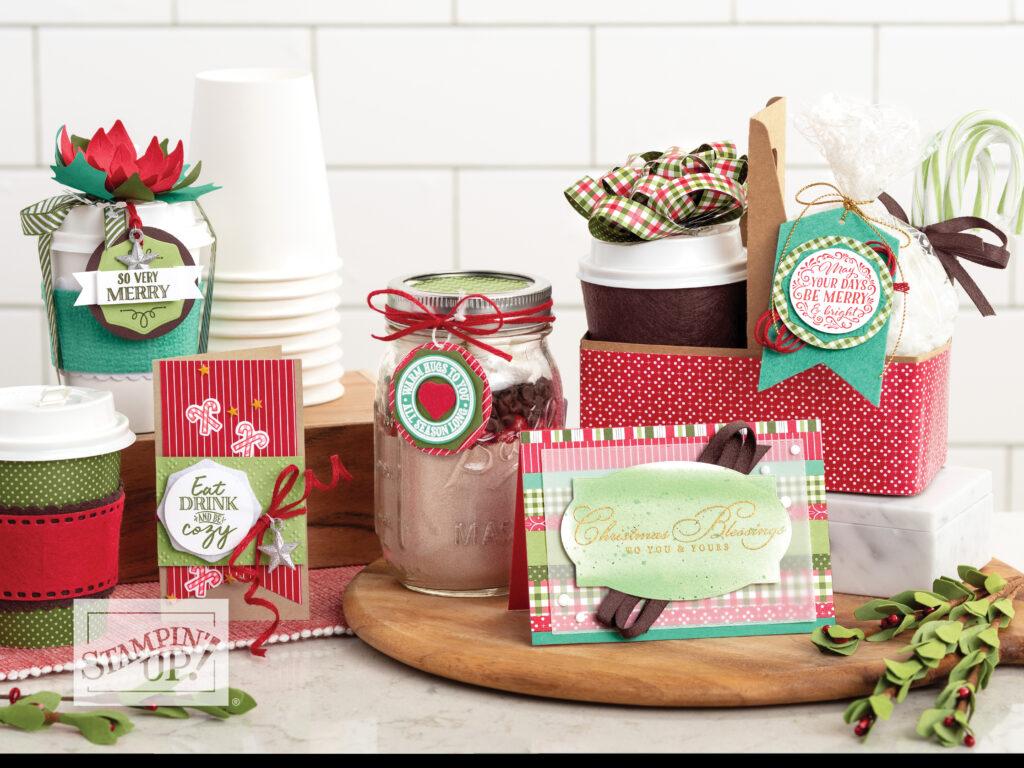 stampin up weihnachten im herzen tee kaffe