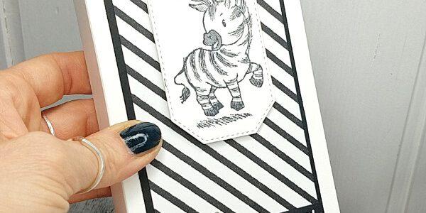 Ziehverpackung für Servietten mit Zebras – Anleitung