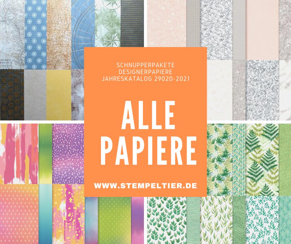 stampin up designerpapier share dsp jahreskatalog 2020 2021 stempeltier bestellen schnupperpakete
