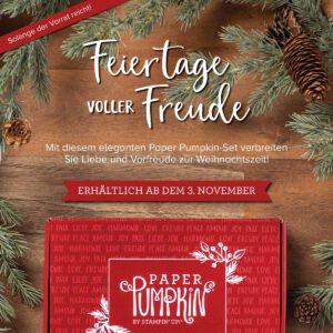 paper pumpkin november feiertage voller freude stempeltier weihnachten karten basteln