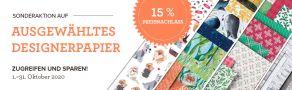 15% sparen auf stampin up designerpapier DSP sale stempeltier