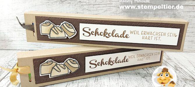 ANLEITUNG Ziehverpackung für Schogetten Schokolade