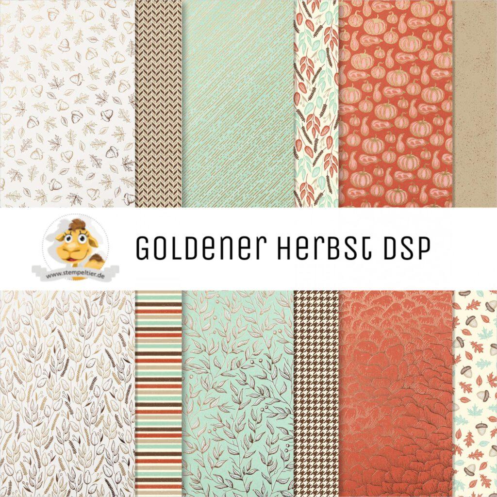 stampin up goldener Herbst dsp designerpapier stempeltier
