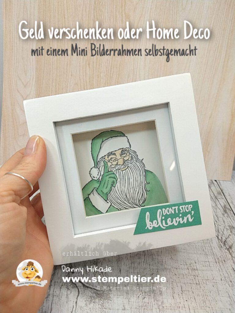 stampin up bilderrahmen geldgeschenk diy dont stop believin gutschein verpackung weihnachtsmann.jpg