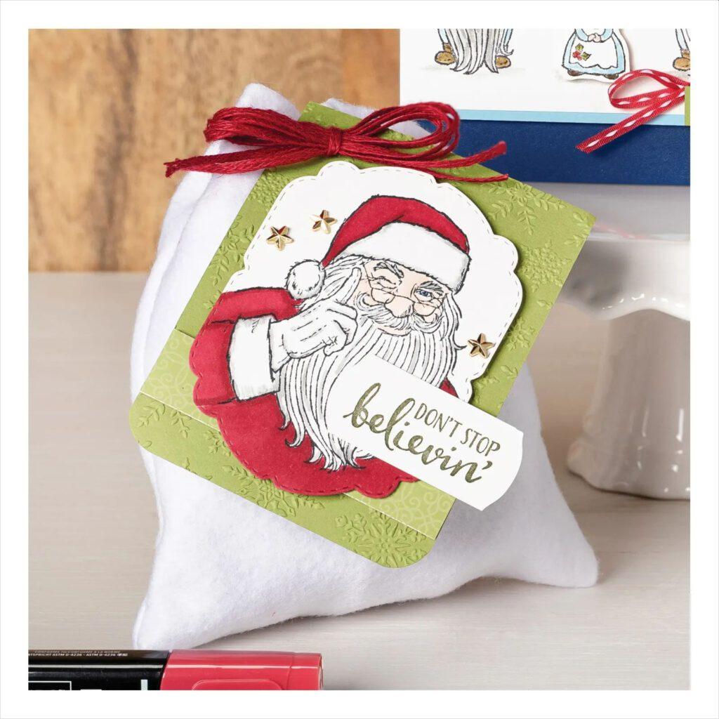 stampin up dont stop believin santa weihnachtsmann karten basteln