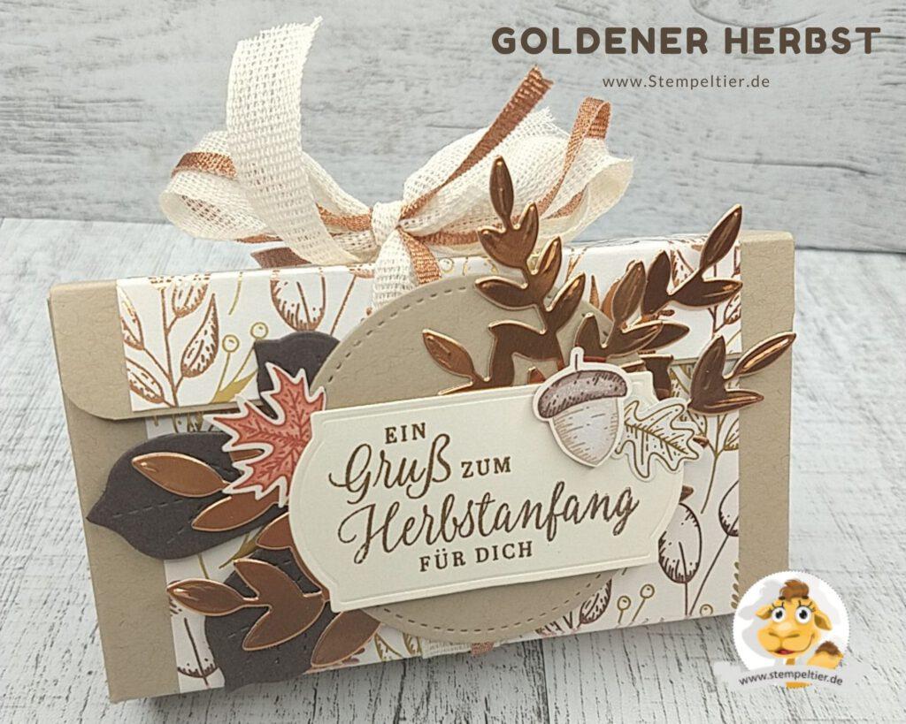 stampin up goldener Herbst workshop stempeltier Herbst verpackung anleitung
