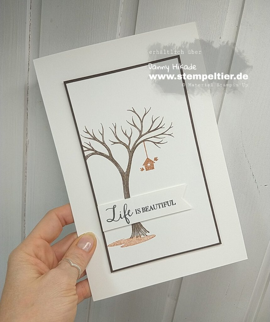 stampin up life is beautiful baum herbstkarte oversized card stempeltier
