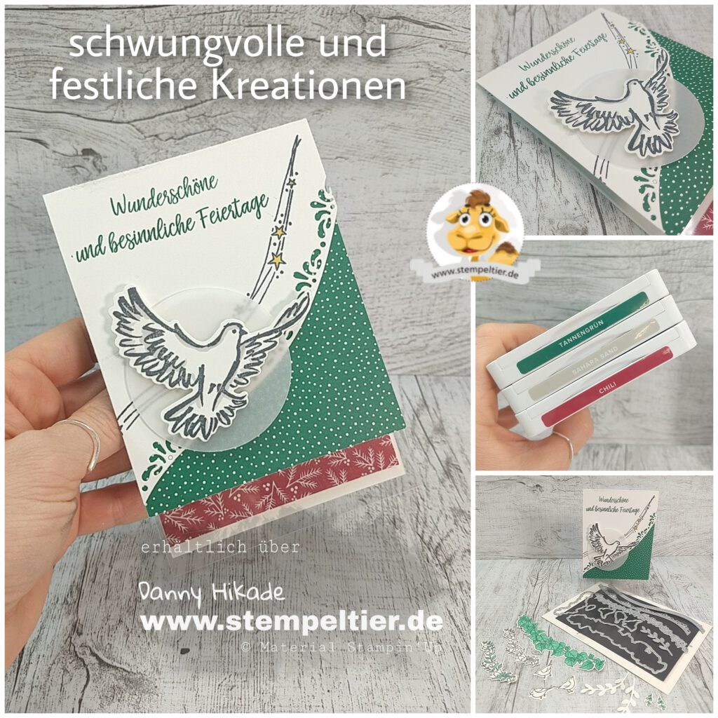 stampin up taube schwungvoll festliche kreationen weihnachtskarte