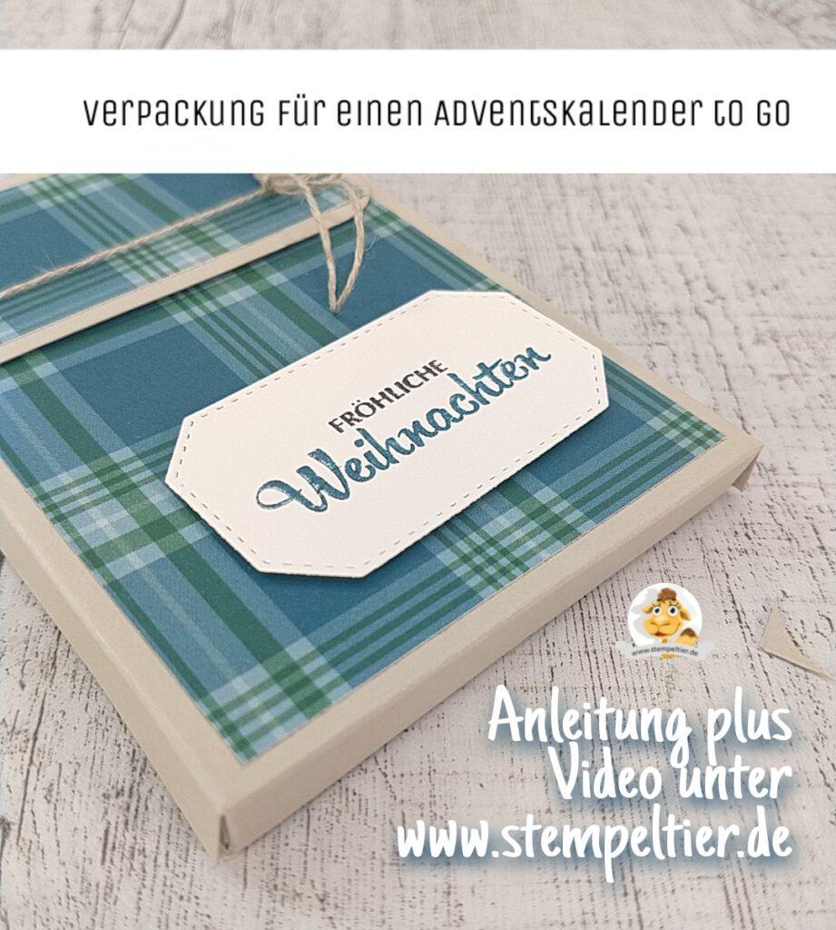stampin up anleitung verpackung adventskalender to go für unterwegs schokolinsen