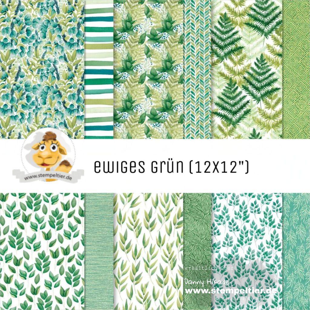 stampin up designerpapier ewiges grün sale angebot 15% stempeltier