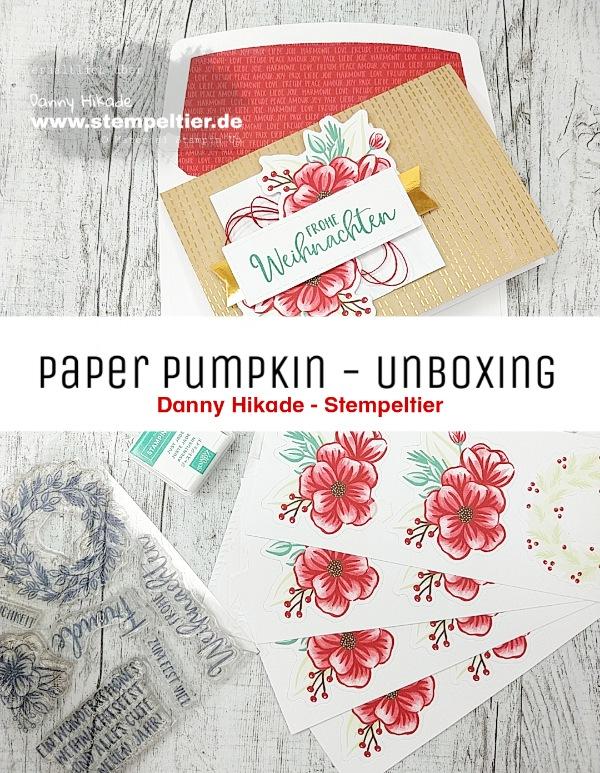 stampin up paper pumpkin november weihnachten karten deutsche sprüche stempeltier feiertage voller freude
