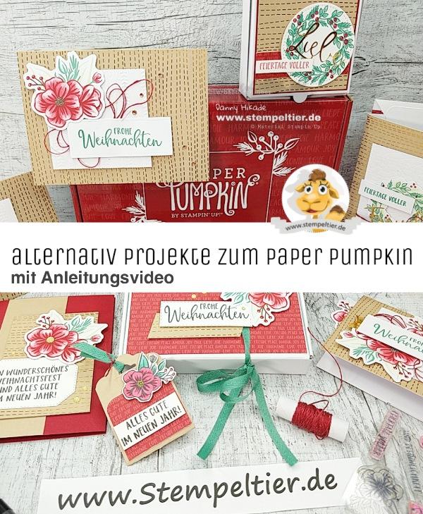 stampin up paper pumpkin feiertage voller freude alternativen projects feiertage voller freude