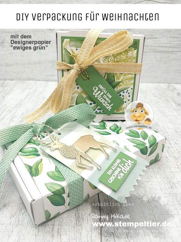stampin up ewiges grün verpackung weihnachten dsp stempeltier