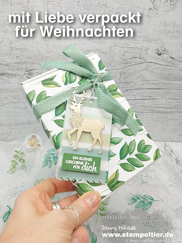 stampin up ewiges grün verpackung weihnachten dsp stempeltier mini paper pumpkin