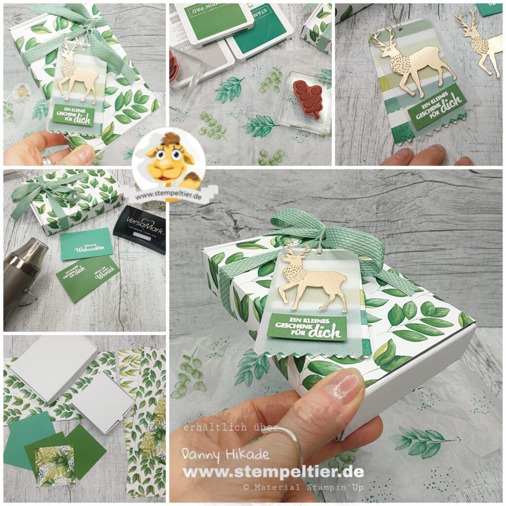 stampin up ewiges grün verpackung weihnachten dsp stempeltier DIY basteln