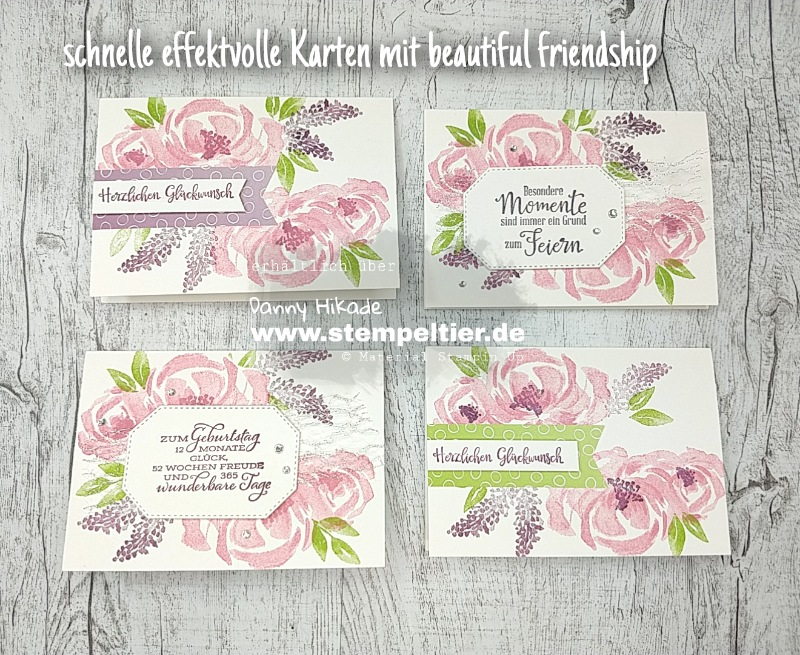 stampin up beautiful friendship karten blumen anfänger stempeltier stampenup