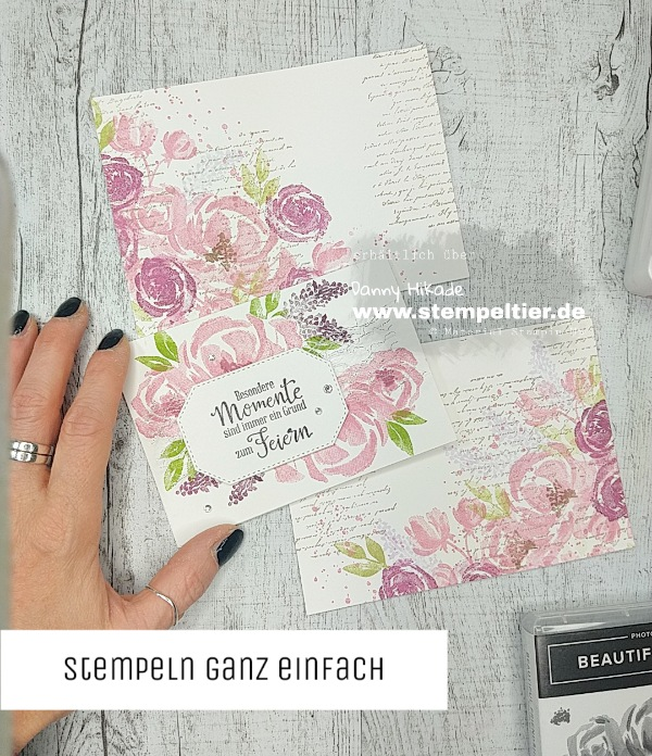 stampin up beautiful friendship karten blumen anfänger stempeltier