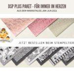 Minikatalog stampin up 2021 materialpaket share DSP Plus Pakete für immer im herzen stempeltier