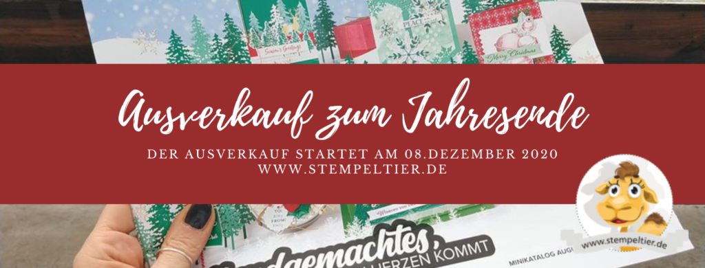 Stampin Up Ausverkauf Auslaufliste Herbst Winter 2020 stempeltier