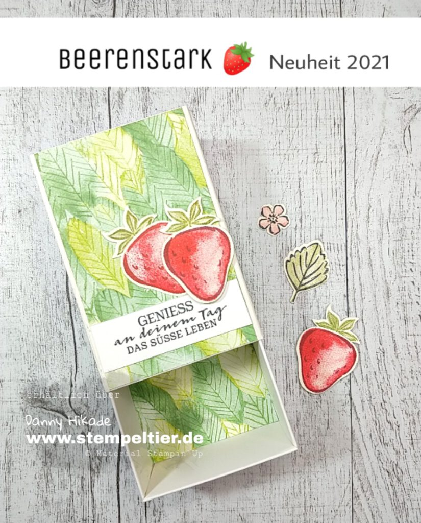 stampin up erdbeeren SAB 2021 handstanze strawberry stempeltier